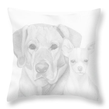 Webster And Lulu Throw Pillow