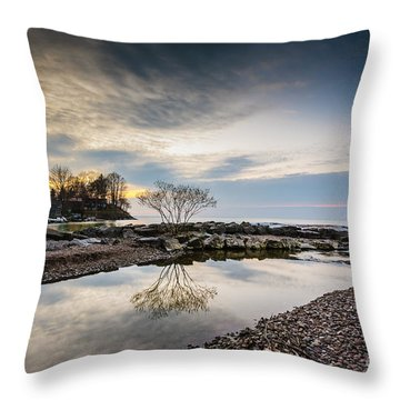 Webster Ny Lake View Throw Pillow
