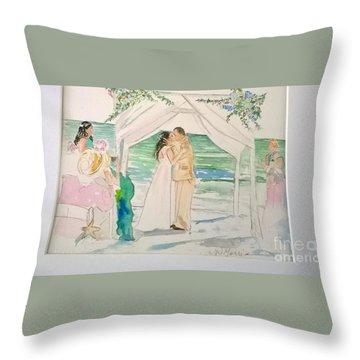 Wedding At Naples, Florida Throw Pillow
