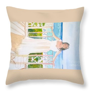 Wedding At The Ritz In Naples Throw Pillow