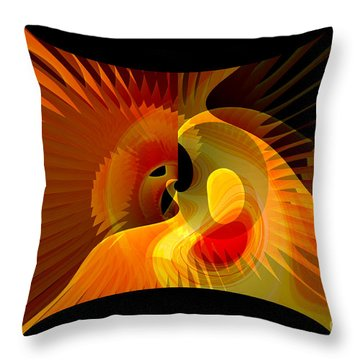 Wedding Between Sun And  Moon  Throw Pillow