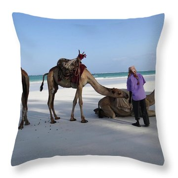 Wedding Camels In The Waiting ... Throw Pillow