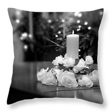 Wedding Candle Throw Pillow