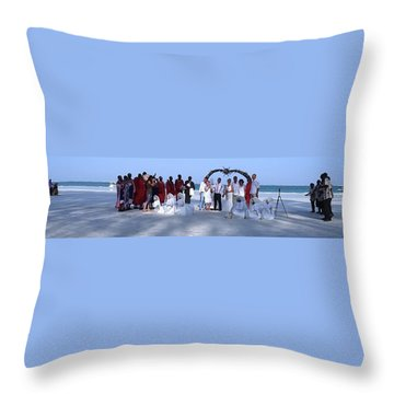 Wedding Complete Panoramic Kenya Beach Throw Pillow