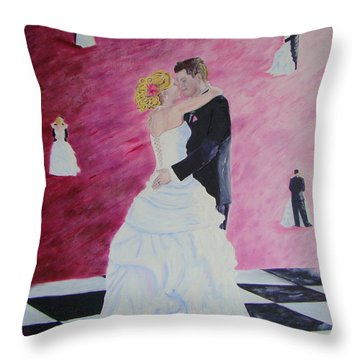Wedding Dance Throw Pillow
