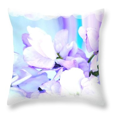 Wedding Flower Pedals Throw Pillow by Marsha Heiken
