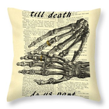 Wedding Gift, Till Death Do Us Part Throw Pillow