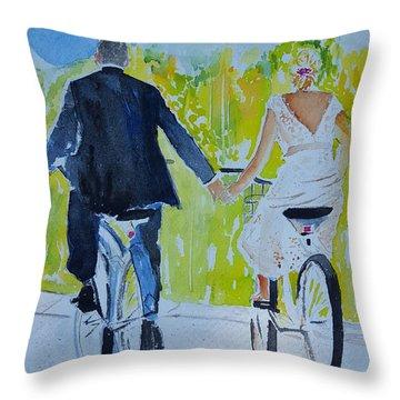 Wedding In Colorado Throw Pillow
