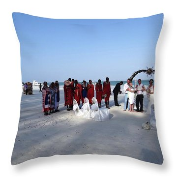 Wedding In The Afternoon Shadow Throw Pillow