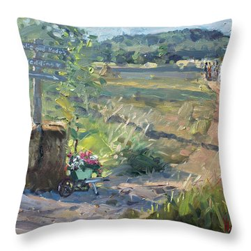 Wedding In The Farm Grorgetown  Throw Pillow