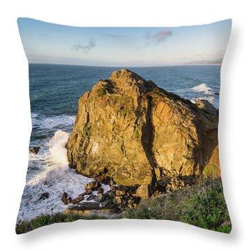 Wedding Rock Evening Light Throw Pillow
