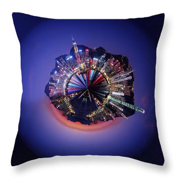 Wee Hong Kong Planet Throw Pillow by Nikki Marie Smith