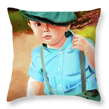 Wee Laddie  Throw Pillow
