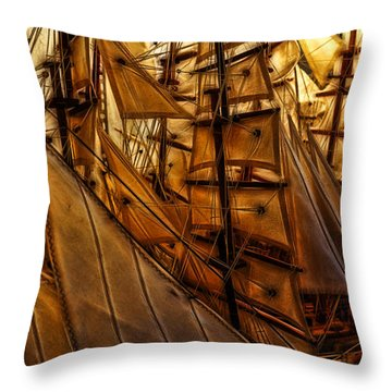 Wee Sails Throw Pillow by Cameron Wood