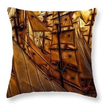 Wee Sails Throw Pillow