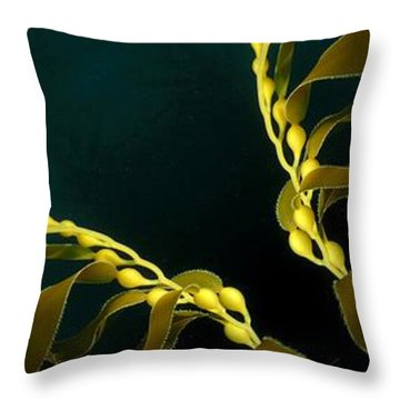 Throw Pillow featuring the digital art Weed 1 by Ron Bissett