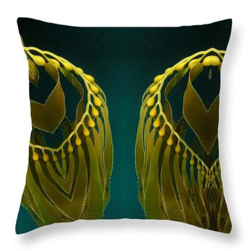 Throw Pillow featuring the digital art Weed 2 by Ron Bissett