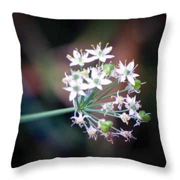 Weed Flower Throw Pillow