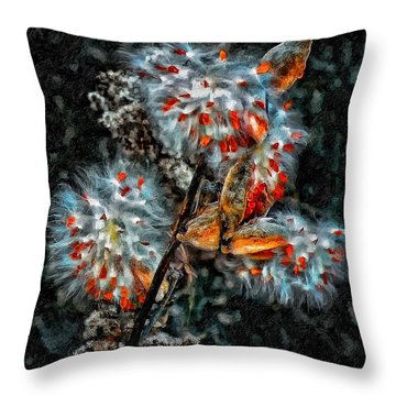 Weed Galaxy Painted Version  Throw Pillow by Steve Harrington