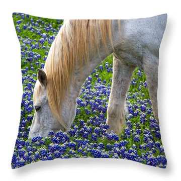 Weeding The Garden Throw Pillow by Gary Holmes