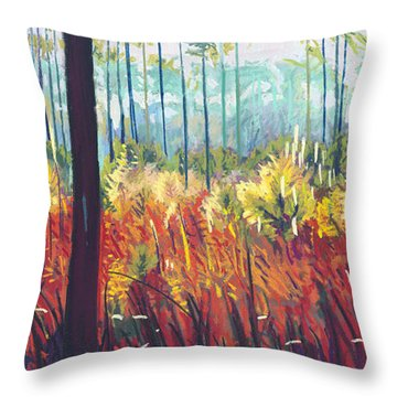 Weeds Throw Pillow by David Randall