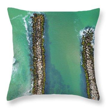 Weekapaug Breachway Throw Pillow