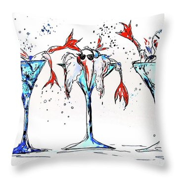 Weekend At Birdies Throw Pillow