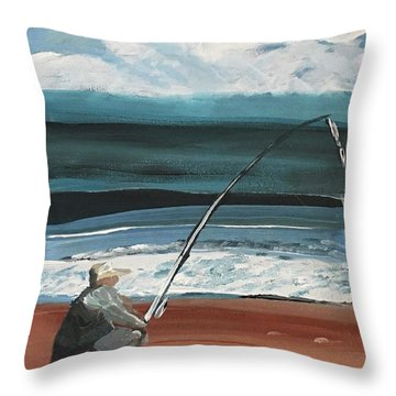 Weekend Fisherman Throw Pillow