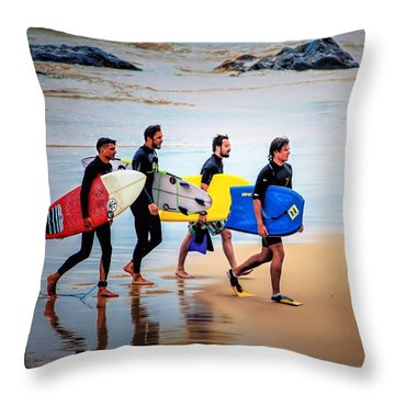 Weekend Warriors Throw Pillow by Wallaroo Images