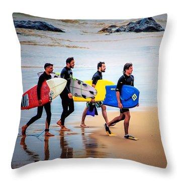 Weekend Warriors Throw Pillow