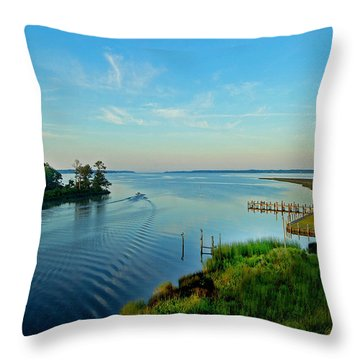 Weeks Bay Going Fishing Throw Pillow