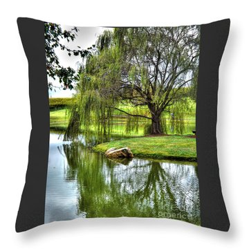 Weep No More Throw Pillow by Christy Ricafrente