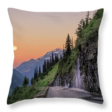 Weeping Wall Dawn Throw Pillow