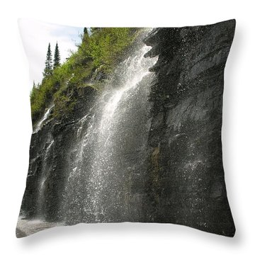 Weeping Wall Throw Pillow by Diane Greco-Lesser