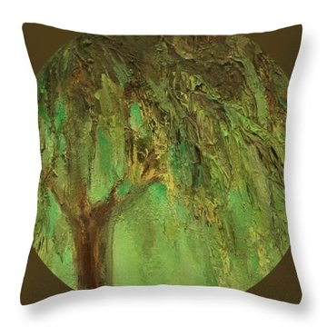 Weeping Willow Throw Pillow