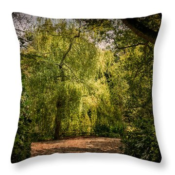 Throw Pillow featuring the photograph Weeping Willow by Ryan Photography