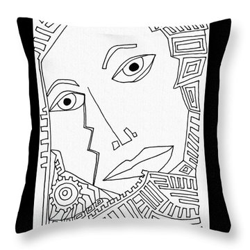 Weeping Woman Throw Pillow by Sarah Loft