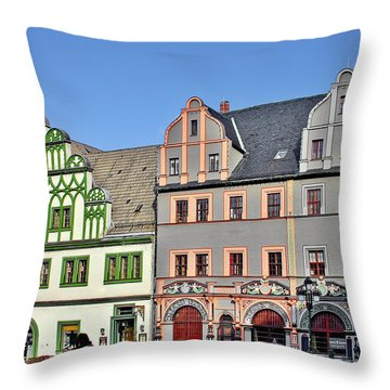 Weimar Germany - A Town Of Timeless Appeal Throw Pillow by Christine Till