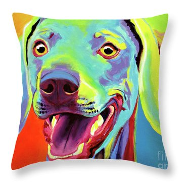 Weimaraner - Taffy Throw Pillow by Alicia VanNoy Call