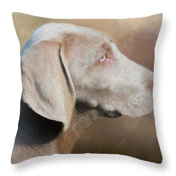 Weimaraner Adult - Painting Throw Pillow