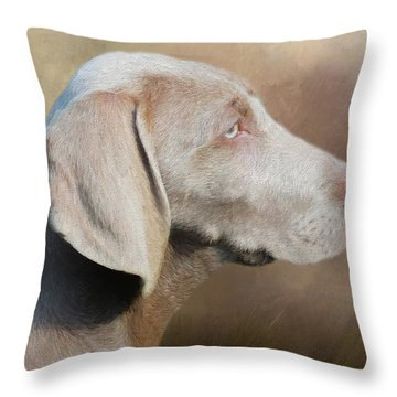 Weimaraner Adult - Painting Throw Pillow