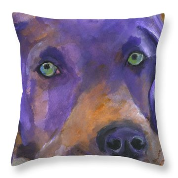 Weimaraner Dog Art Throw Pillow by Mary Jo Zorad