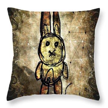 Weird Bun Throw Pillow