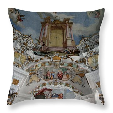 Weiskirke Church Throw Pillow by John Bushnell