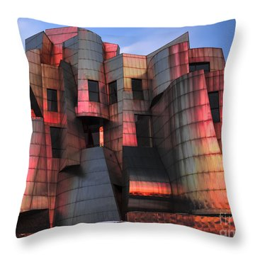 Weisman Art Museum At Sunset Throw Pillow by Craig Hinton