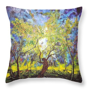 Wekiva Lady Throw Pillow