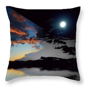 Welcome Beach Day And Night 2 Throw Pillow