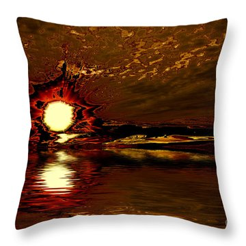 Welcome Beach Sunset 2 Series 1 Throw Pillow