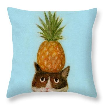 Welcome Cat Throw Pillow