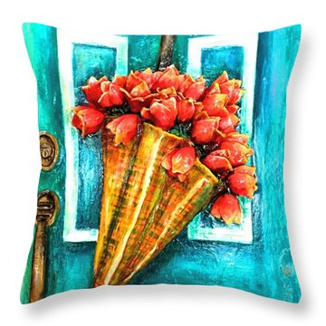 Welcome Door Throw Pillow
